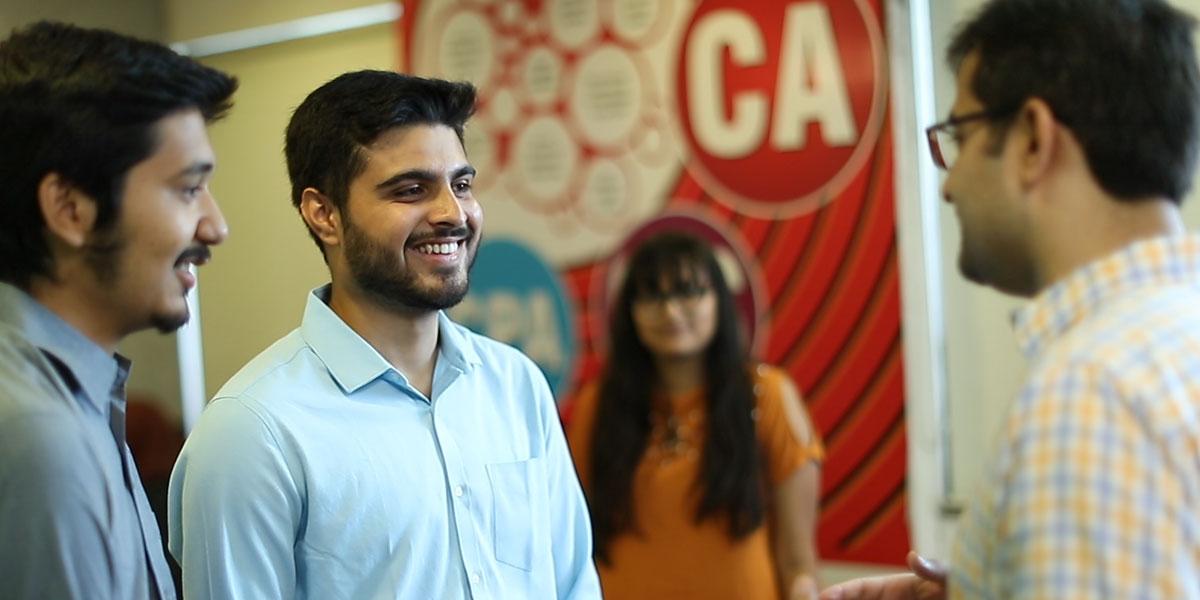 Student Faculty interaction at Navkar Institute
