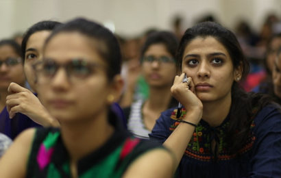 Students focusing in class